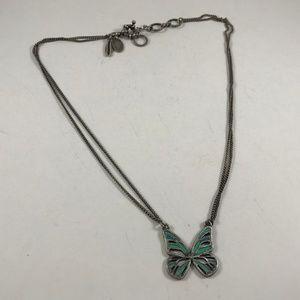 Vintage America Butterfly Necklace